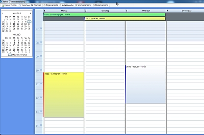 Rechnungssoftware Verlog - Terminverwaltung - Rechnungsprogram für KMUs